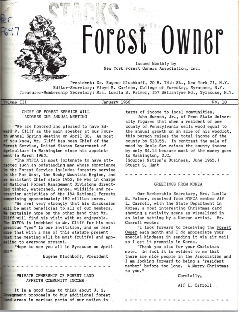New York Forest Owners Association 1966